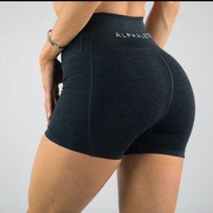 Alphalete Black Marl Revival Shorts